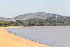 Guaiba河在Ipanema 免版税图库摄影