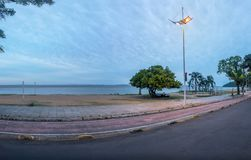 Guaiba River beach in Ipanema - Porto Alegre, Rio Grande do Sul, Brazil royalty free stock images