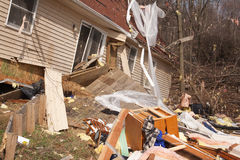 Guaime di ciclone in Lapeer, MI. Immagine Stock
