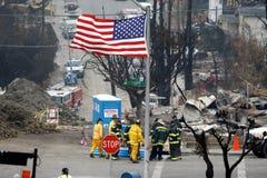 Guaime di esplosione del San Bruno Fotografie Stock Libere da Diritti