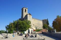 Guaita城堡在圣马力诺 库存图片