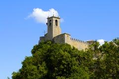 Guaita塔,圣马力诺 免版税库存图片