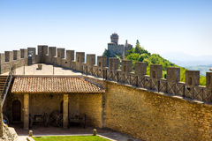 Guaita caste in San marino Royalty Free Stock Images