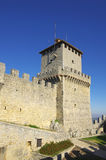 Guaita castle in San Marino Stock Image