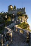Guaita, de Eerste Toren van San Marino Monte Titano Stock Fotografie