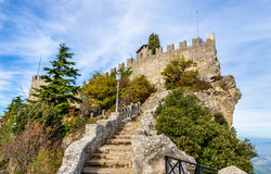 Guaita, First Tower of San Marino Stock Image