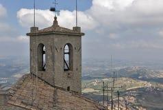 Guaita fortress bell tower in San Marino. Stock Photography
