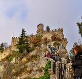 Guaita fortress on Monte Titano in San Marino Stock Photography