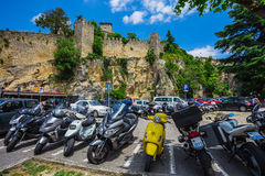 The Guaita fortress is the oldest and the most famous tower on S Royalty Free Stock Photos