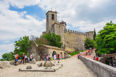 The Guaita fortress is the oldest and the most famous tower on S Royalty Free Stock Photography