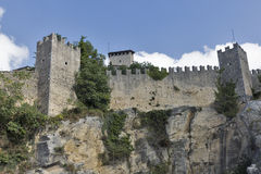 Guaita fortress, oldest and most famous tower on San Marino. Stock Photography