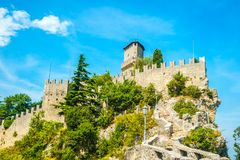 Guaita fortress, San Marino Royalty Free Stock Photography