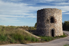 Guaita Kontrollturm (Xeraco) - alter Wachturm Lizenzfreie Stockfotografie
