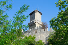 Guaita tower of Mount Titan in San Marino. Stock Image