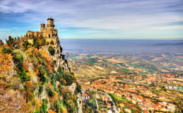 Guaita, a Tower of San Marino Stock Photos
