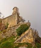 Guaitavesting op Monte Titano in San Marino Stock Afbeelding