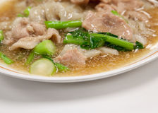 Guaitiao Rad Na (Wide Noodles in a  gravy Sauce) Royalty Free Stock Images