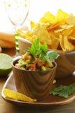Guakomole and corn chips - avocado  dip Stock Photos