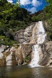 Gualba-Wasserfall. Montseny, Spanien. Lizenzfreie Stockfotos