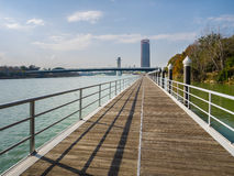 Gualdalquivir river and Pelli tower in the background Stock Photo