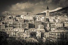 Gualdo Tadino village in Umbria royalty free stock photos