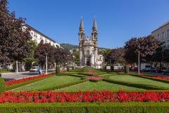 Gualter för Sao för Guimaraes Portugal - Nossa Senhora da Consolaçao e DOS Santos Passos Church aka kyrka arkivbild