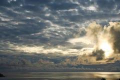 Guam dark sunrise. A gloomy sunrise in southern Guam Royalty Free Stock Image
