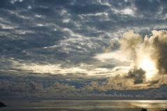 Guam-Dunkelheitsonnenaufgang Lizenzfreies Stockbild