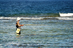 Guam Fisherman. A fisherman in the pacific island of Guam Stock Images