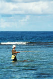 Guam Fisherman. A fisherman in the pacific island of Guam Royalty Free Stock Photography