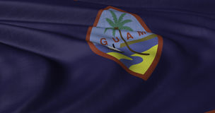 Guam flagga som fladdrar i ljus bris Arkivfoton