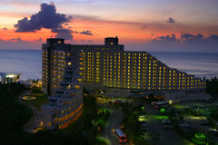 Guam hotel at sunset Royalty Free Stock Photo