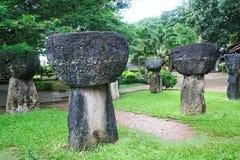 Guam Latte Stones. Ancient Latte stones in Hagatna, capital of Guam Stock Image