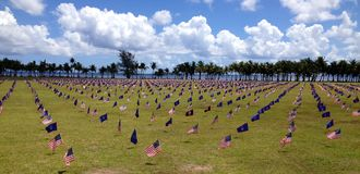 Guam Memorial Flags Royalty Free Stock Image