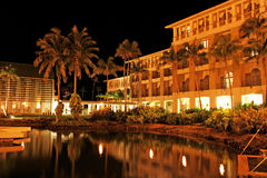 Guam Night Scene. Night time in a hotel in Guam Royalty Free Stock Photo