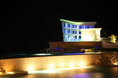 Guam Resort chapel at night. Night time shot of a chapel in a hotel resort in Guam Stock Photos