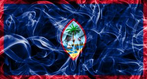 Guam smoke flag, United States dependent territory flag.  Stock Photography