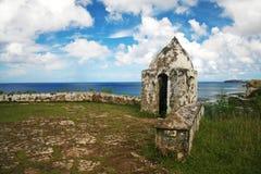 Guam Spot Magellan Point. Magellan Point in the south of Guam where Ferdinand Magellan landed Stock Photo