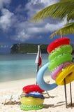 Guam-Strand Lifebuoys Lizenzfreie Stockfotografie