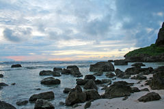 Guam sunrise. Sunrise in Tagachang beach in the south of Guam Stock Images