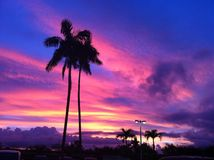 Guam Sunset  Royalty Free Stock Images