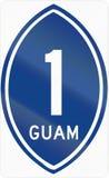 Guam Territorial Highway shield Stock Images