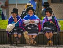 西尔维娅,波帕扬,哥伦比亚- 11月, 24 :Guambiano土产p 免版税图库摄影