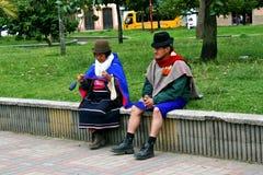 Guambino Native Couple. Silvia, Colombia stock photo