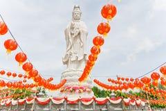 Guan雕象在(公共场所) 免版税库存照片
