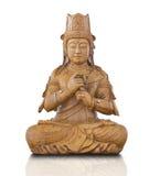 guan雕象木头yin 库存图片