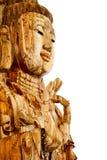 guan изолированное yin древесины статуи Стоковое фото RF