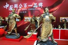 Guan锣古铜雕象 库存照片