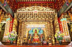 The Guan In Goddess in chinese temple Royalty Free Stock Images