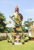 Guan Gong Giant Warrior Buddhist tempel Royaltyfria Bilder